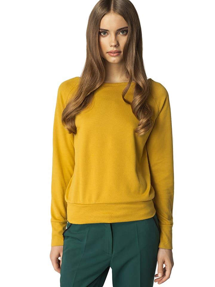 Nife Sweter w kolorze musztardowym