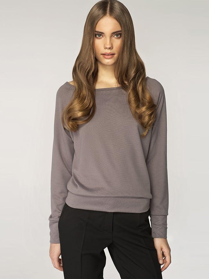 Nife Sweter w kolorze szarym