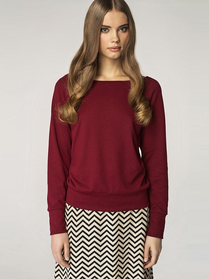 Nife Sweter w kolorze bordowym