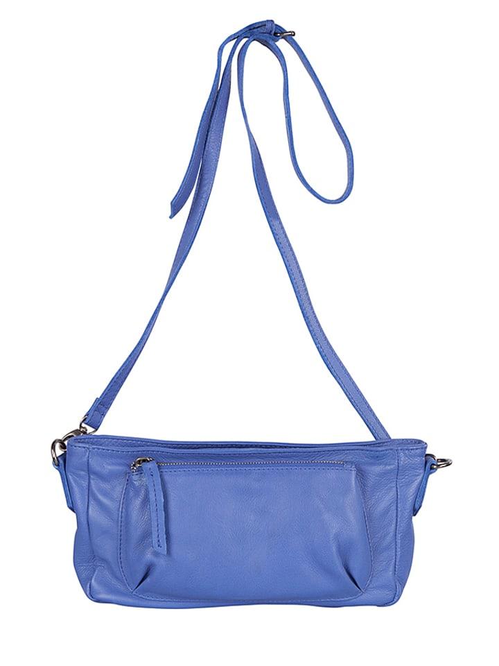 Cowboysbag Skórzana torebka w kolorze niebieskim - 34 x 14 x 6 cm