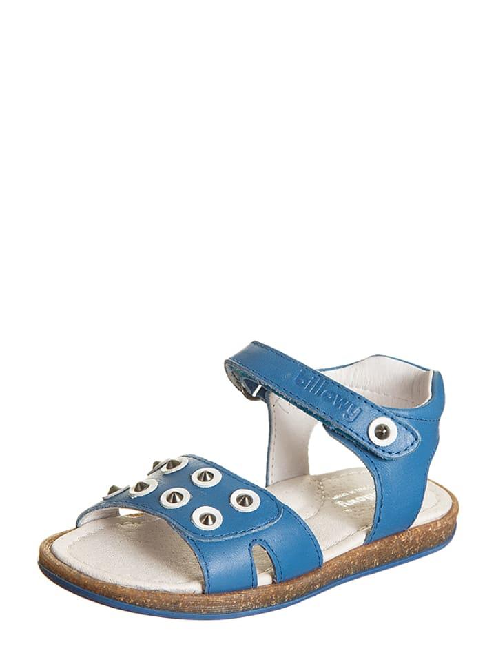 Skórzane sandały w kolorze niebieskim Billowy Wyprzedaż