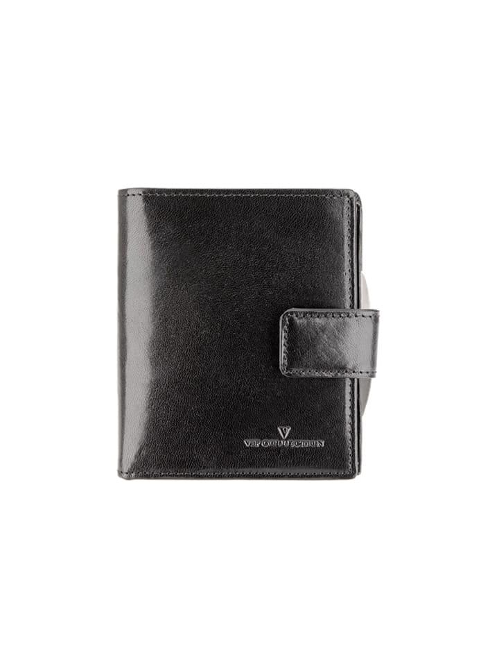 5341fd75a0396 Vip Collection Skórzany portfel w kolorze czarnym - (S)8