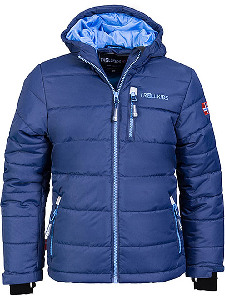 "Trollkids Ski-/snowboardjas ""Hemsedal"" donkerblauw/lichtblauw"