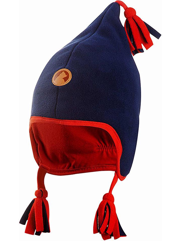 Finkid Czapka w kolorze granatowo-czerwonym