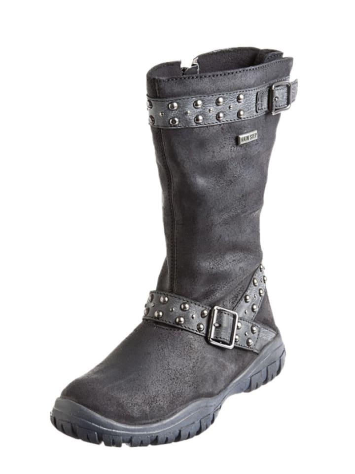 Naturino Leren laarzen zwart/antraciet