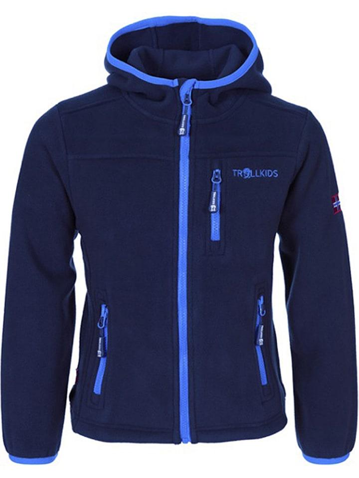 """Trollkids Fleece vest """"Stavanger"""" donkerblauw/lichtblauw"""