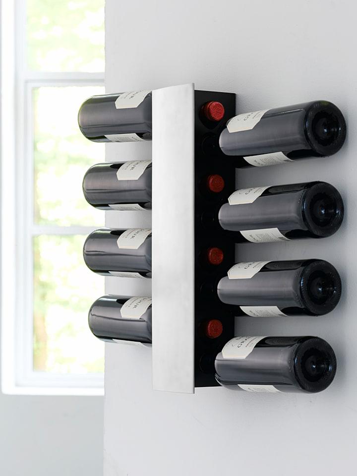 """Steel-Function Stojak """"Wine and Dine"""" w kolorze czarnym na wino - wys. 43,5 cm"""