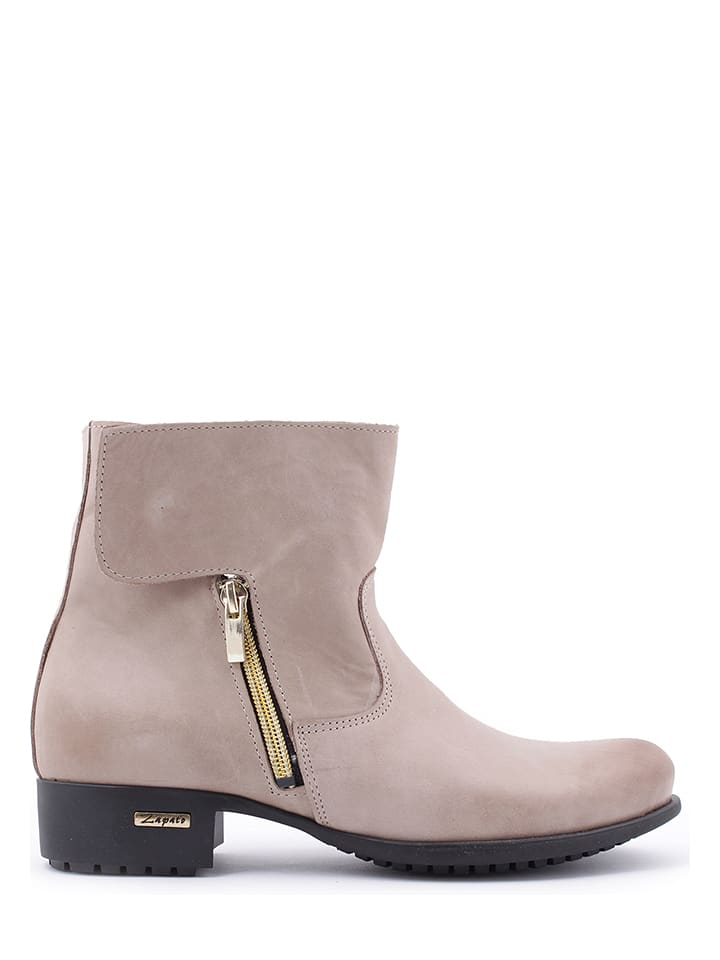Zapato Leren boots zandkleurig