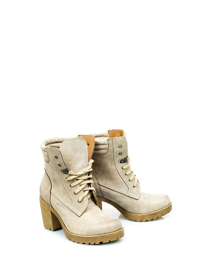 Zapato Leren enkellaarzen zandkleurig