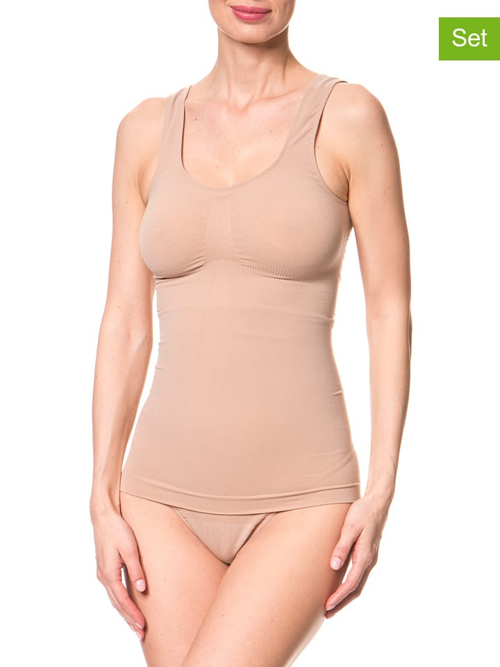 Miss Perfect Shapewear 2er-Set: Shape-Tops in Nude