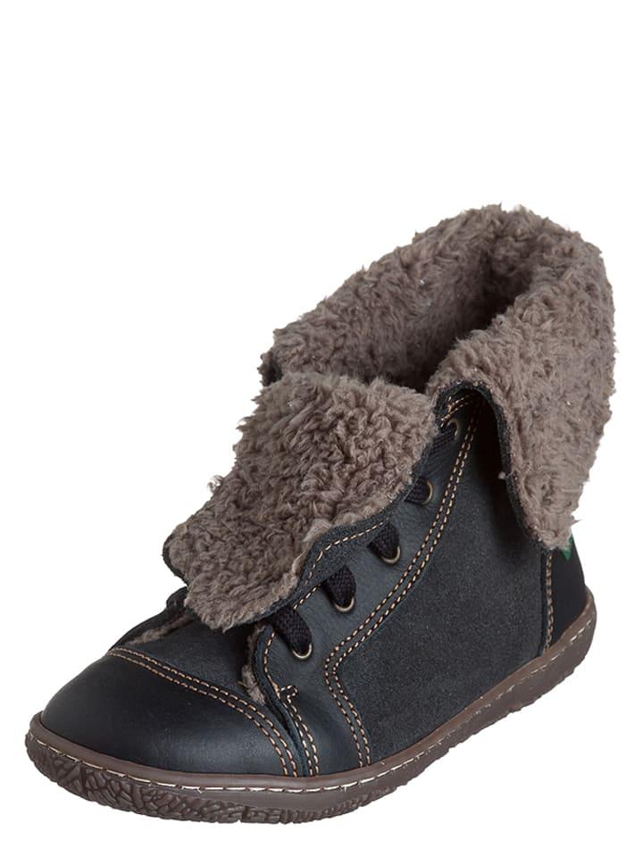 El Naturalista Leren boots zwart