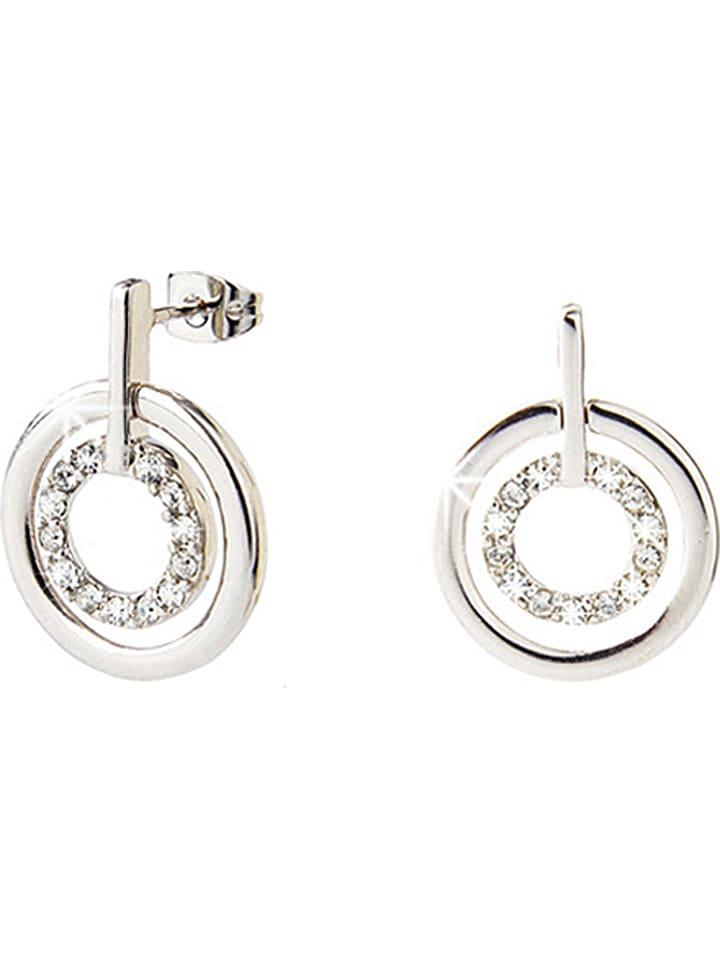 Destellos Silber-Ohrstecker mit Swarovski Kristallen