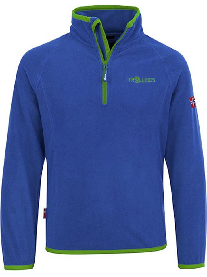 "Trollkids Fleece trui ""Nordland"" blauw/groen"