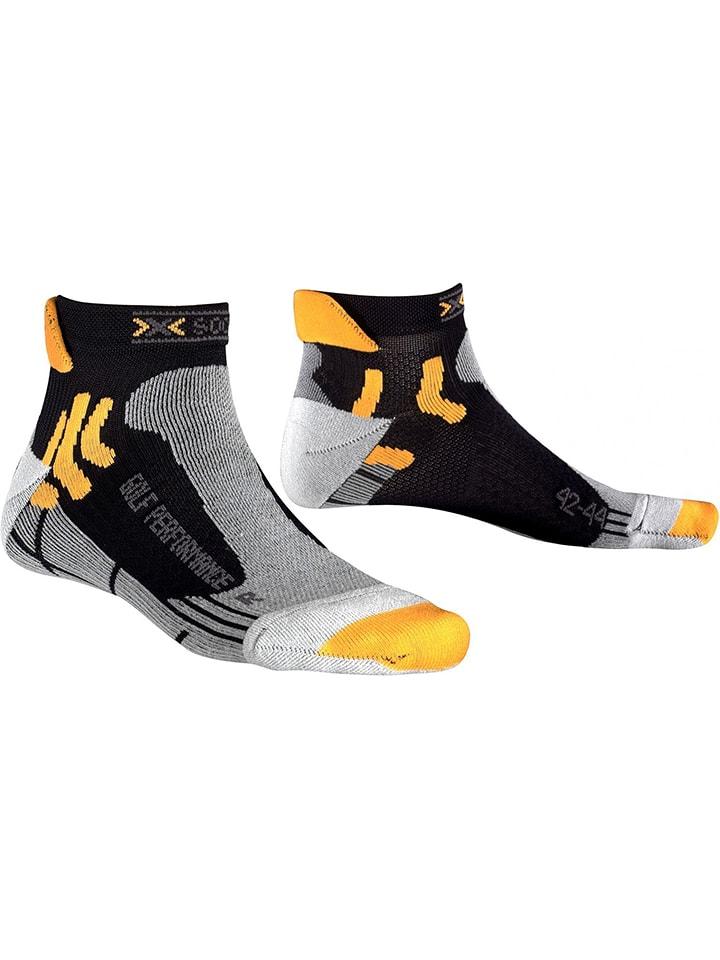 X-Socks Skarpety funkcyjne w kolorze czarno-szaro-żółtym