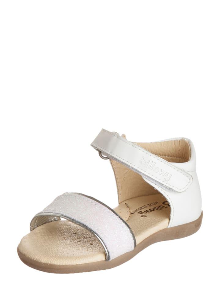 Billowy Skórzane sandały w kolorze białym