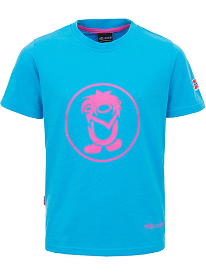 "Trollkids Functioneel shirt ""Troll"" lichtblauw/roze"