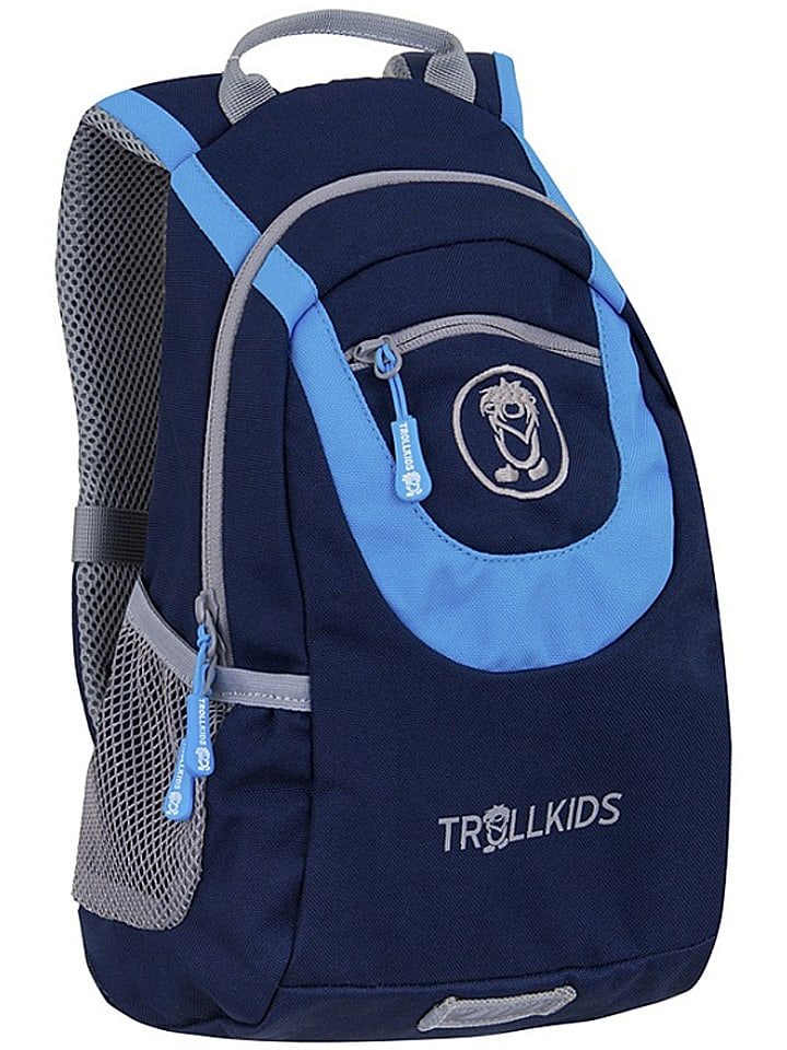 """Trollkids Rugzak """"Trollhavn S"""" donkerblauw/lichtblauw - (B)22 x (H)33 x (D)13 cm"""