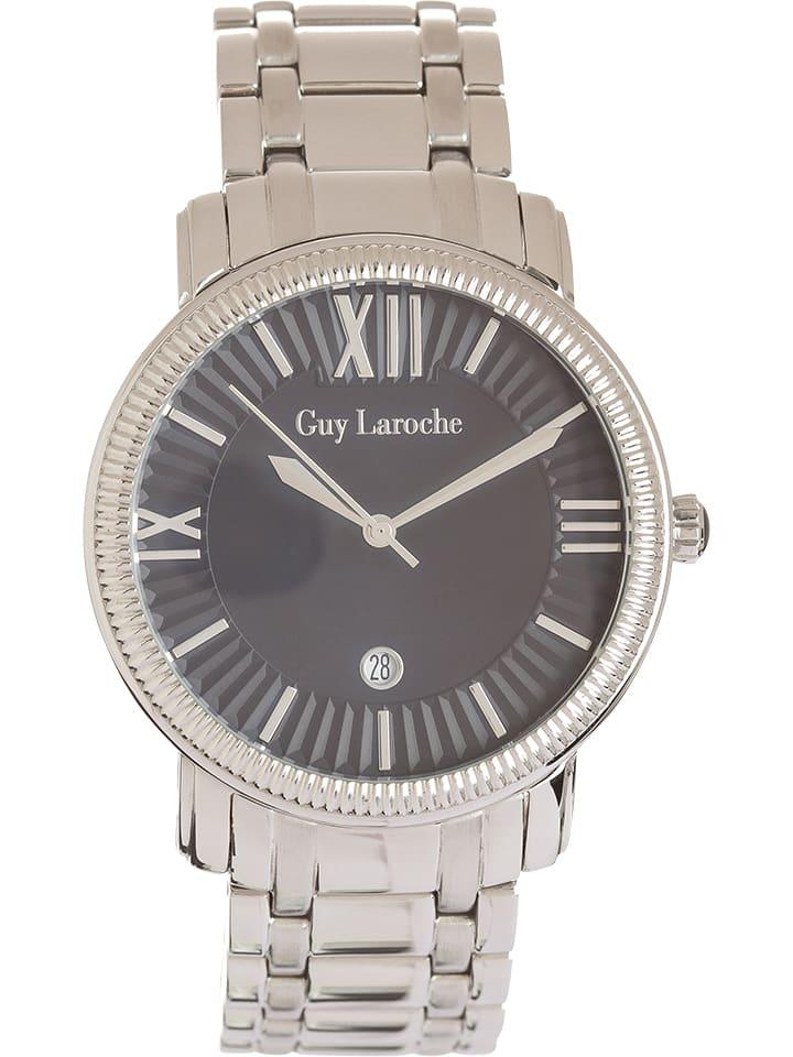 Guy Laroche Zegarek kwarcowy w kolorze srebrno-czarnym