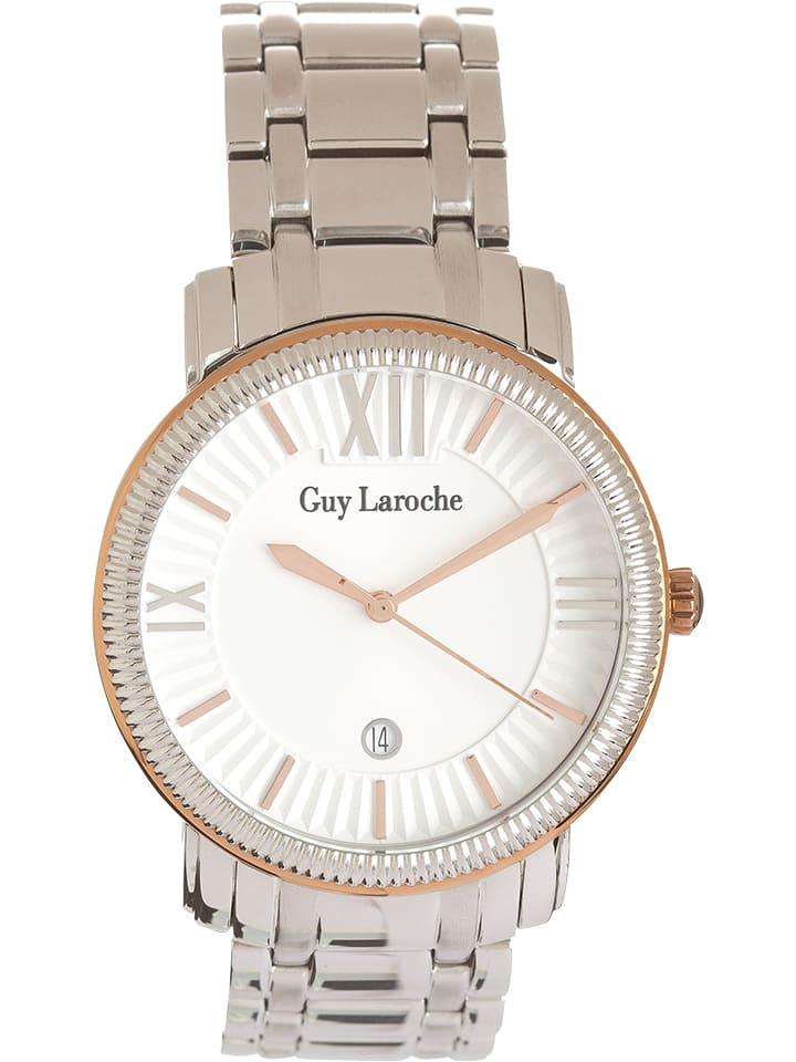 Guy Laroche Zegarek kwarcowy w kolorze srebrno-różowozłotym
