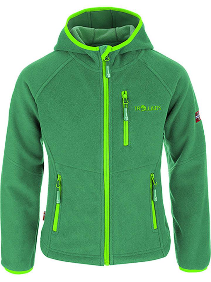 """Trollkids Fleece vest """"Stavanger"""" groen/lichtgroen"""