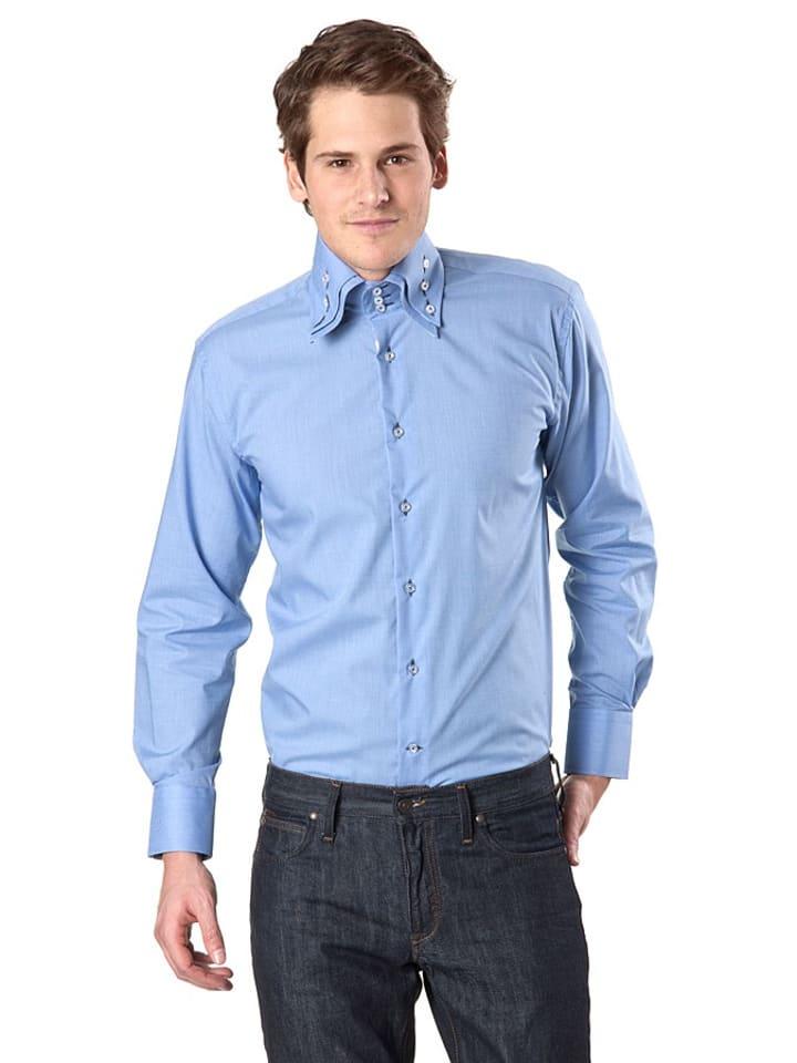 Bacco Buetti Overhemd blauw