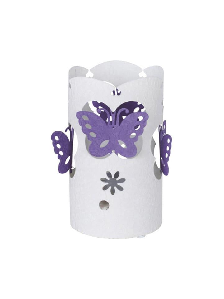 Dom z pomysłem Lampa stołowa  w kolorze fioletowo-białym - KEE A++ (A++ do E) - Ø 15 cm