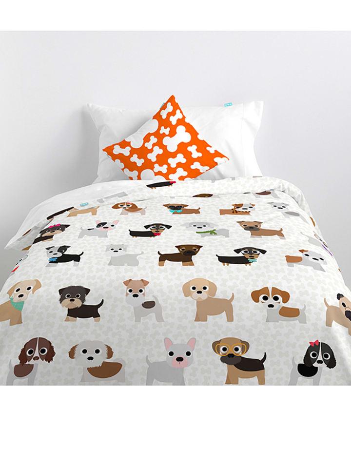 Mr Fox Bettwasche Set Dogs In Weiss Bunt Limango Outlet