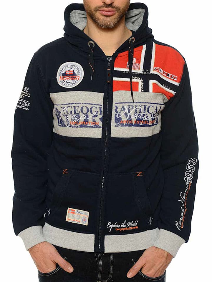 "Geographical Norway Sweatvest ""Flyer"" zwart"