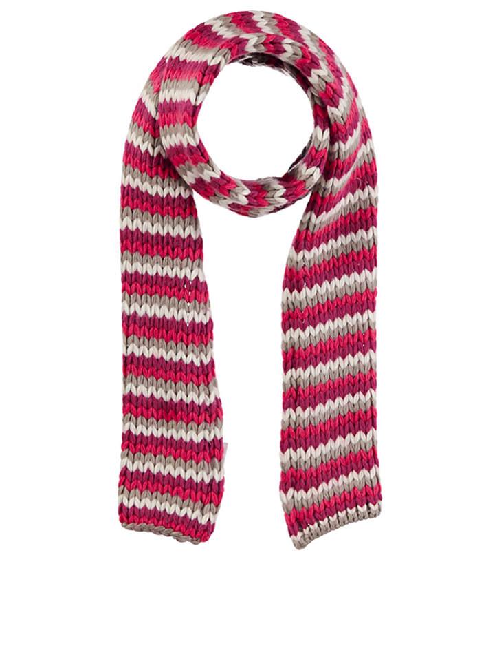 """Schöffel Szal """"Maira"""" w kolorze różowo-szaro-białym - 20 x 175 cm"""