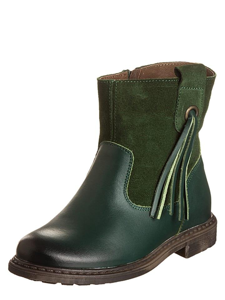 Billowy Leren boots groen
