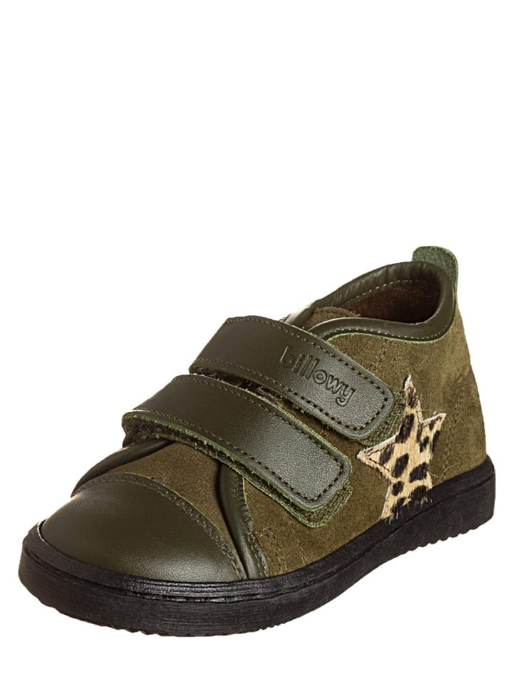 Billowy Skórzane sneakersy w kolorze oliwkowym