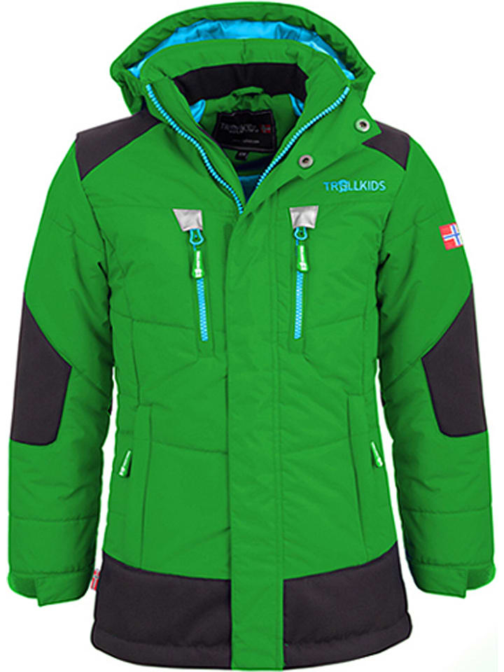 "Trollkids Winterjas ""Narvik"" groen/zwart"