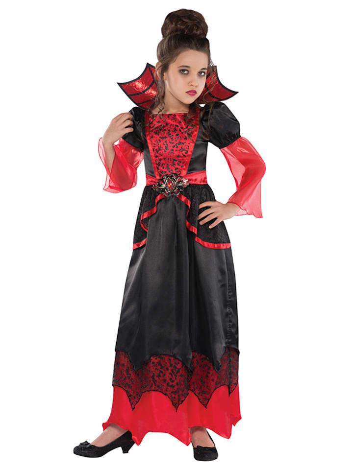 Amscan 2-częściowy kostium w kolorze czarno-czerwonym