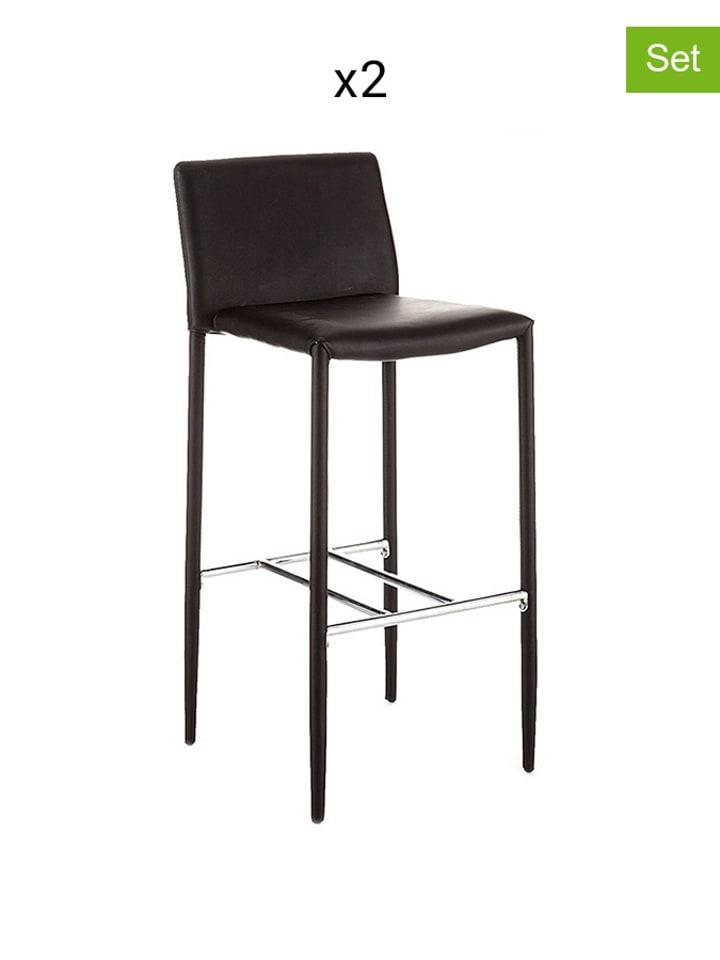 best service 57cd2 121d8 Krzesło (2 szt.) w kolorze czarnym - (S)50 x (W)76 x (G)43 ...