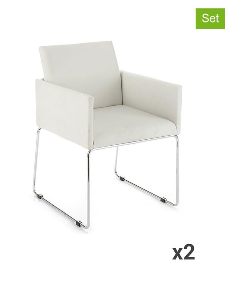 Dom z pomysłem Krzesło (2 szt.) w kolorze białym - (S)55 x (W)80 x (G)60 cm