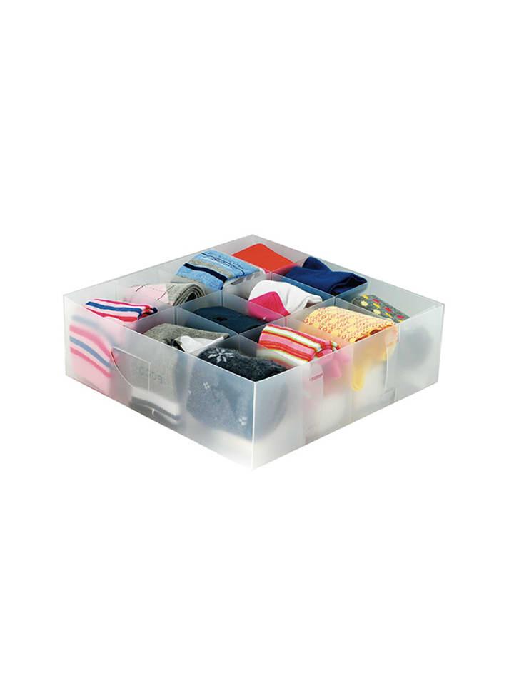 Jocca Organizer w kolorze transparentnym - (S)30 x (W)30 x (G)10 cm