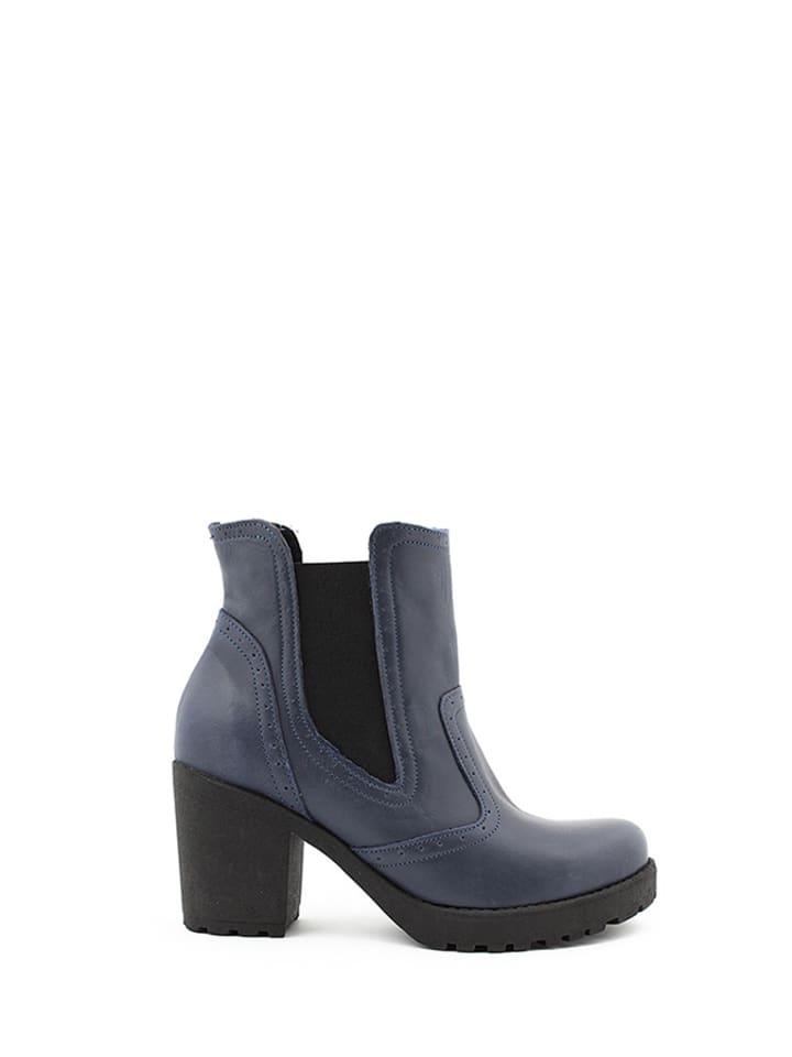 Zapato Leren chelseaboots donkerblauw