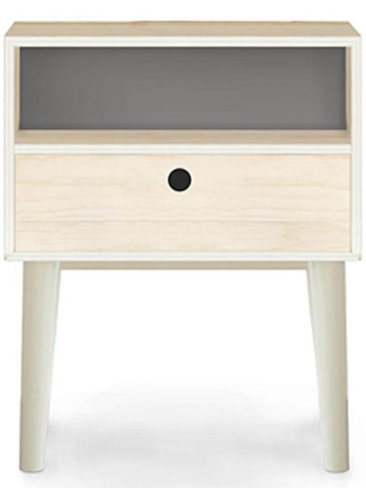 Really Nice Things Stolik w kolorze biało-szarym - 32 x 47 x 32 cm