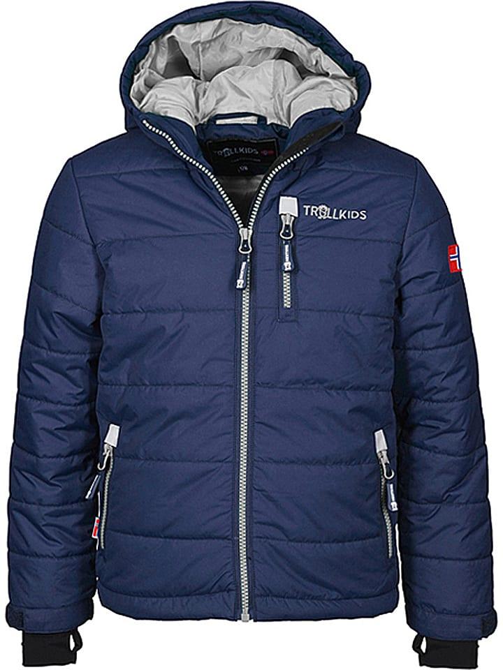 "Trollkids Ski-/ Snowboardjacke ""Hemsedal"" in Dunkelblau/ Silber"