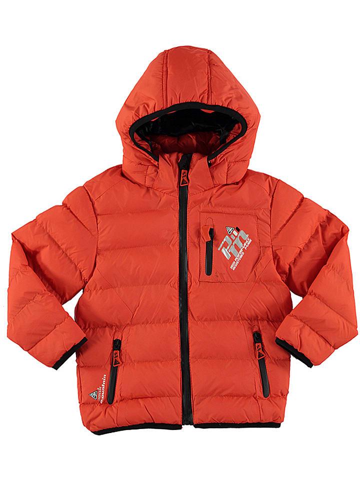 Peak Mountain Kurtka zimowa w kolorze pomarańczowym