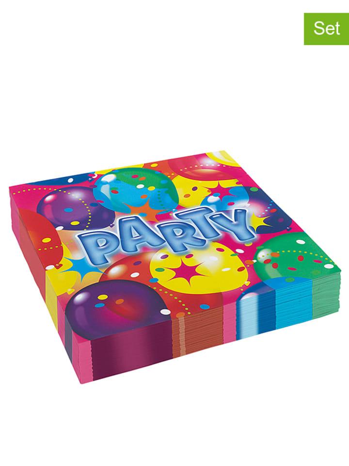 "Riethmüller 20er-Set: Servietten ""Balloon Party"" in Bunt - (B)33 x (L)33 cm"