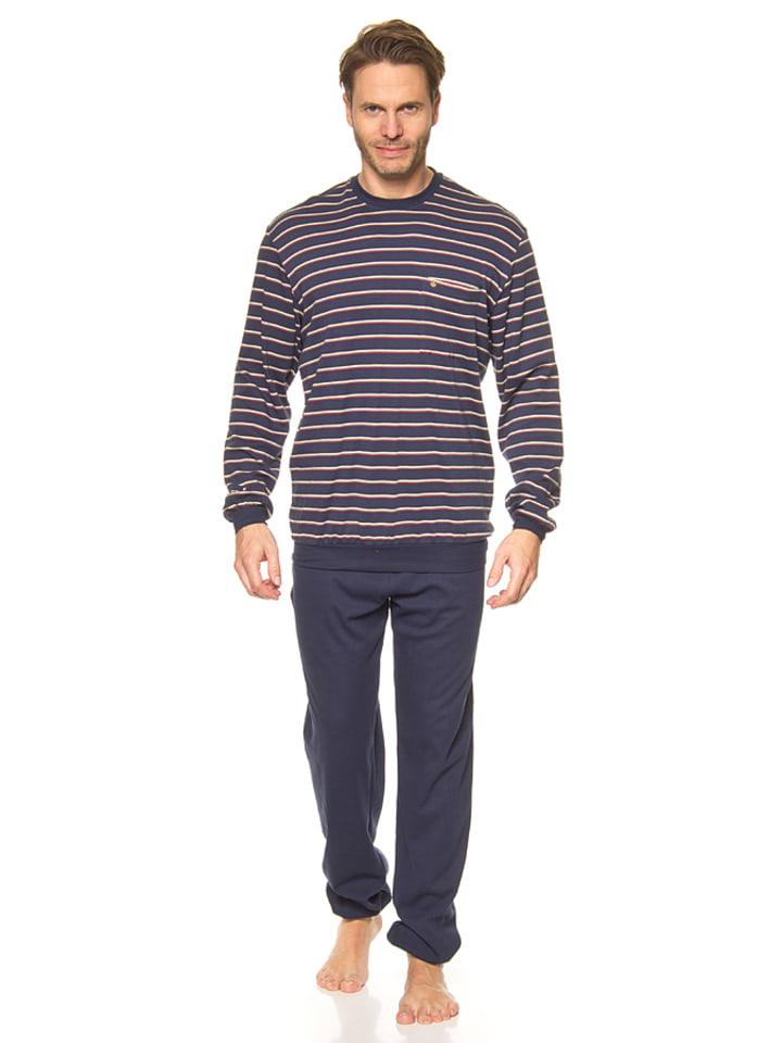 Seidensticker Pyjama donkerblauw/groen/rood