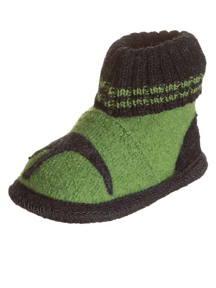 "Kitz-pichler Pantoffels ""Dinosaurus"" groen/grijs"