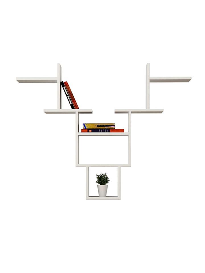Dom z pomysłem Półka w kolorze białym - (S)127 x (W)99 x (G)22 cm