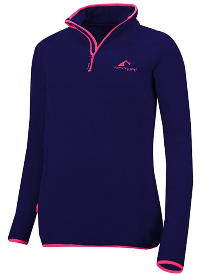 """Westfjord Bluza polarowa """"Hekla"""" w kolorze granatowo-różowym"""