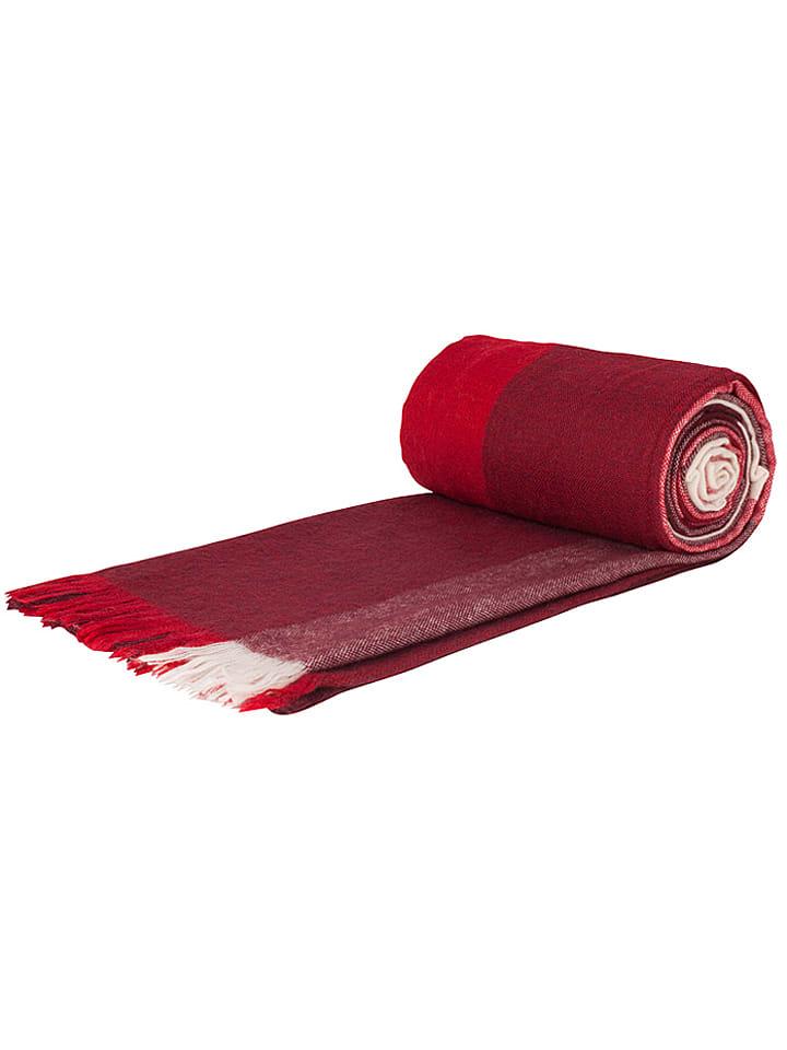 """Zwei Szal """"Salut SU2"""" w kolorze czerwonym - 85 x 210 cm"""