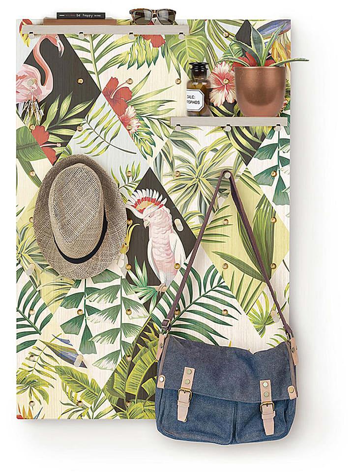 """Surdic Steekbord """"Tropical"""" groen/meerkleurig - (B)50 x (H)70 cm"""