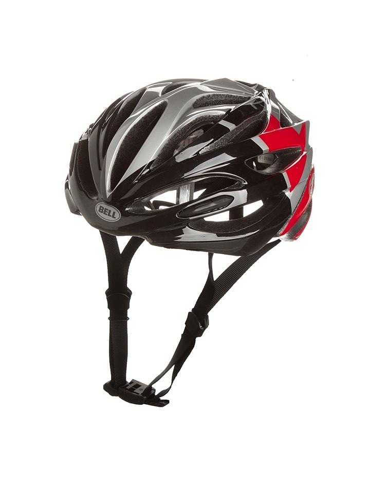 """Bell Kask rowerowy """"Array 14"""" w kolorze czerwono-srebrno-czarnym"""