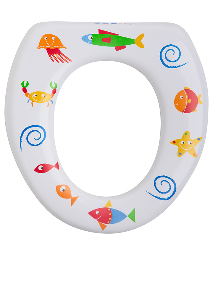 "Rotho Babydesign Siège de toilettes souple ""Seaworld"" - blanc/fantaisie"