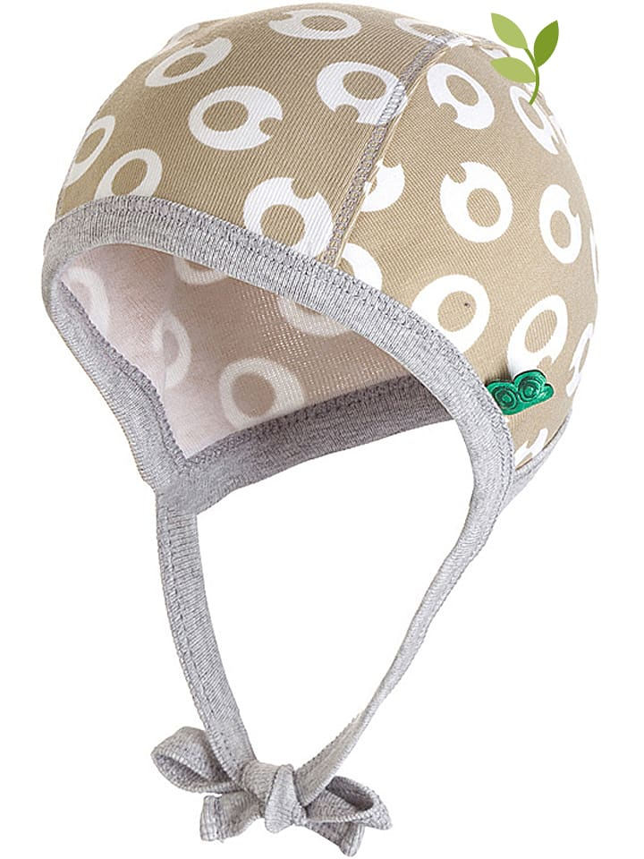 "Green Cotton Mütze ""My baby"" in Beige/ Weiß"